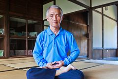 Practicing Zen meditation Royalty Free Stock Image