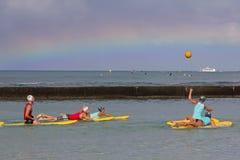 Practique surf el polo Imágenes de archivo libres de regalías