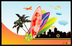 Practique surf la ilustración del vector de los vectores libre illustration