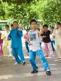 Practique a Tai Chi Fotos de archivo libres de regalías