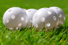 Practise golfing balls Stock Photo