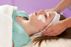 Practitioner Doing Chemical Youth Peel Royalty Free Stock Photography