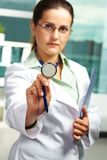 Practitioner with stethoscope Stock Photos