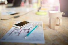 Pracująca przestrzeń biznesmen i startupper Zdjęcie Stock