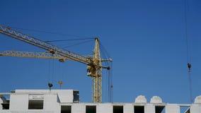 Pracujący budowa żurawie zdjęcie wideo