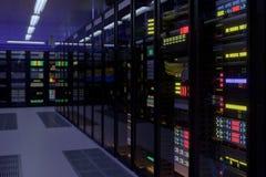 Pracujący dane centrum wnętrze Zdjęcie Royalty Free