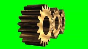 Pracujący gearwheels - zielony parawanowy skutek ilustracji
