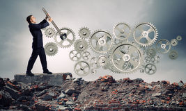 Pracujący mechanizm Obraz Stock