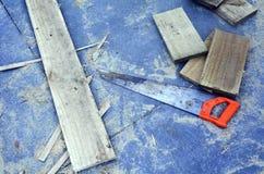 Pracujący narzędzia - Saw narzędzie Zdjęcia Royalty Free
