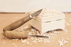 Pracujący narzędzie woodcarver Zdjęcie Royalty Free