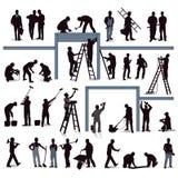Pracujący rzemieślnicy royalty ilustracja