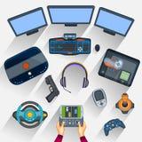Pracujący stół gamer Fotografia Royalty Free