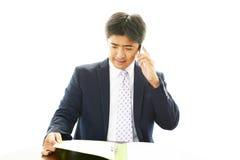 Pracujący Azjatycki biznesmen Fotografia Royalty Free
