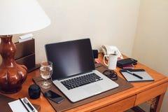 Pracujący biurko Zdjęcie Royalty Free