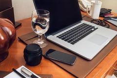 Pracujący biurko Fotografia Royalty Free