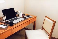 Pracujący biurko Obraz Royalty Free