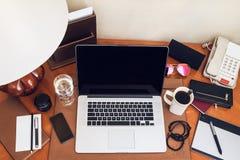 Pracujący biurko Obraz Stock
