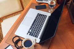 Pracujący biurko Fotografia Stock