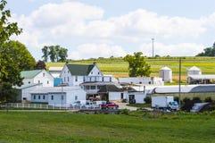 Pracujący gospodarstwo rolne dom w tocznych wzgórzach Pennsylwania Zdjęcie Royalty Free