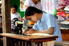 pracujący kobiet potomstwa Obraz Royalty Free