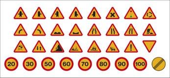 Pracuje ruchów drogowych znaki Fotografia Stock