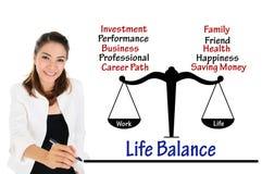 Pracy życia równowaga biznesowy pojęcie Obrazy Royalty Free