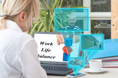 Pracy życia równowaga kobiety pojęcie Fotografia Stock