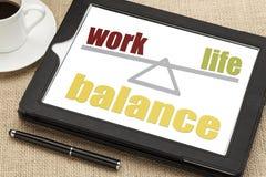 Pracy życia równowagi pojęcie Obraz Royalty Free
