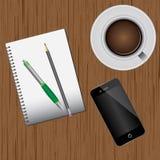 Pracy biurko ilustracja wektor