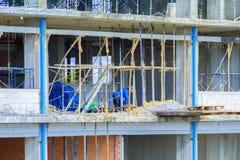 Pracy budowa w budynku miejsca wysokim miejscu pracy Fotografia Stock