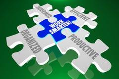 Pracy Mądrze Uorganizowana Poinformowana Skuteczna Produktywna łamigłówka Piec Zdjęcie Stock