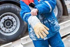 Pracy odzieży rękawiczki ochraniać twój rękę Obraz Stock