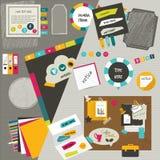 Pracy sieci biurowy układ. royalty ilustracja