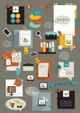 Pracy sieci biurowy układ Zdjęcie Royalty Free