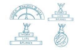 Pracy życia równowagi szablonu set Zdjęcie Royalty Free