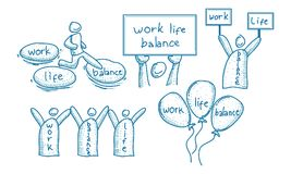 Pracy życia równowagi szablonu set Zdjęcie Stock