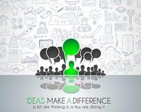 Pracy zespołowej Brainstorming pojęcia komunikacyjna sztuka Obraz Stock