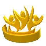 Pracy zespołowej 3D logo ilustracji