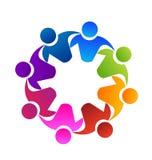 Pracy zespołowej grupa przyjaciele, ikona ilustracja wektor