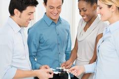 Pracy zespołowej I integraci pojęcie Zdjęcie Stock
