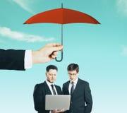 Pracy zespołowej i ochrony pojęcie obrazy stock