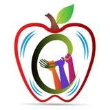 Pracy zespołowej jabłko Obraz Stock
