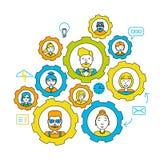Pracy zespołowej pojęcie buck kobiecej wzór jeden strzał razem pracuje Współpracy biznesu praca zespołowa Ludzie biznesu pracy ze ilustracja wektor