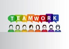 Pracy zespołowej pojęcie jako ilustracja pracuje wpólnie grupa ludzi ilustracji