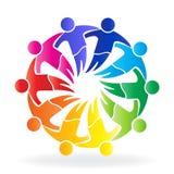 Pracy zespołowej społeczności spotkania loga projekta ikony kreatywnie szablonu ludzie royalty ilustracja
