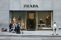 Prada armazena Fotos de Stock Royalty Free