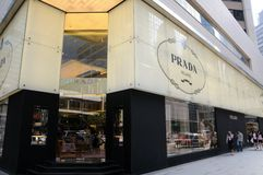 Prada boutique Stock Photography