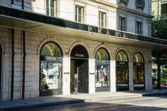 Prada boutique Royaltyfri Foto