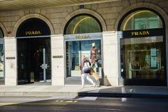 Prada boutique Fotografering för Bildbyråer