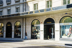 Prada boutique Royaltyfri Bild